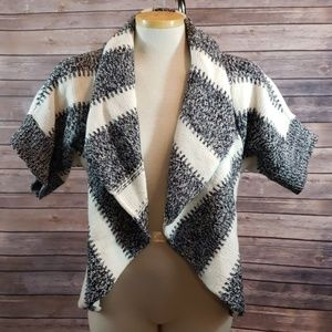 EXPRESS Striped Open Front Cardigan Sweater